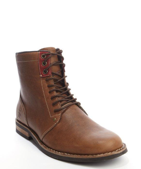 1387fd0dd04 Original Penguin brown leather herringbone lined ankle boots | Boots ...