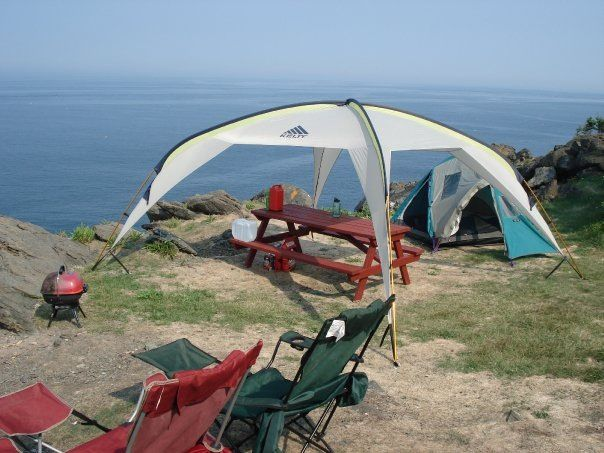 Hole in the Wall c&ground on Grand Manan Island NB. Cliff edge c&site & Hole in the Wall campground on Grand Manan Island NB. Cliff edge ...