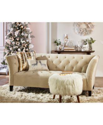 Arielle Tufted Fabric Apartment Sofa Created For Macy S