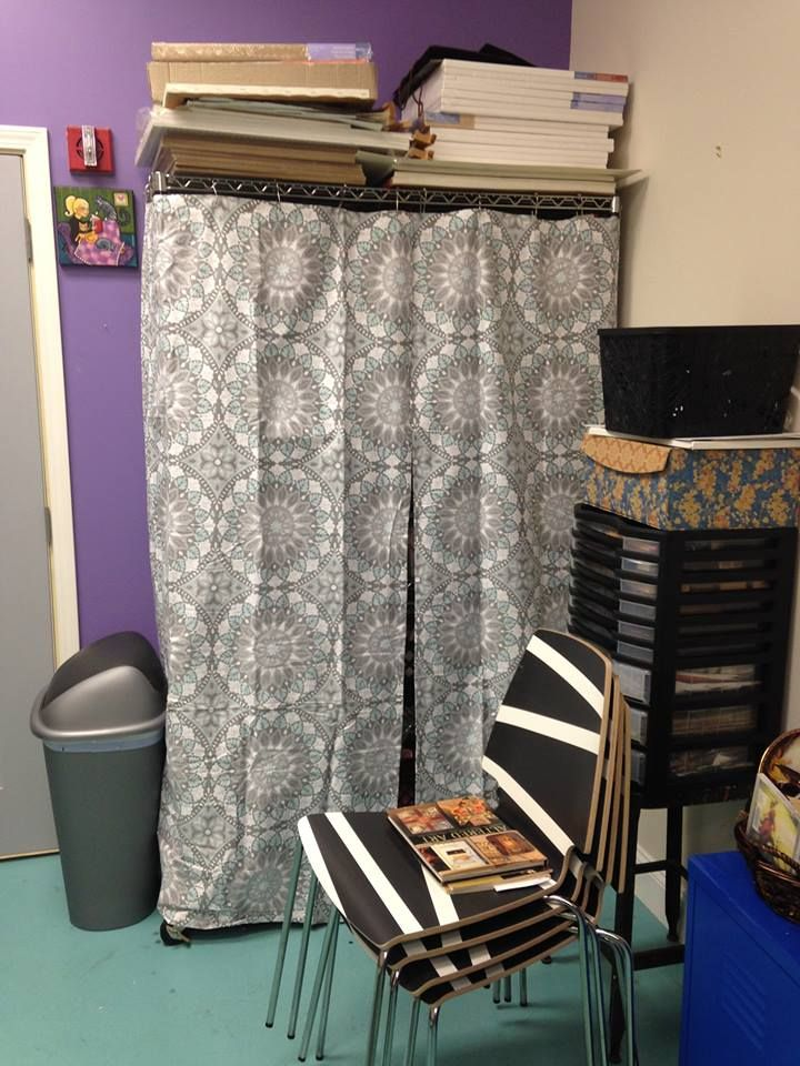 Problem Solved I Made A Covering For My Industrial Metal Shelving