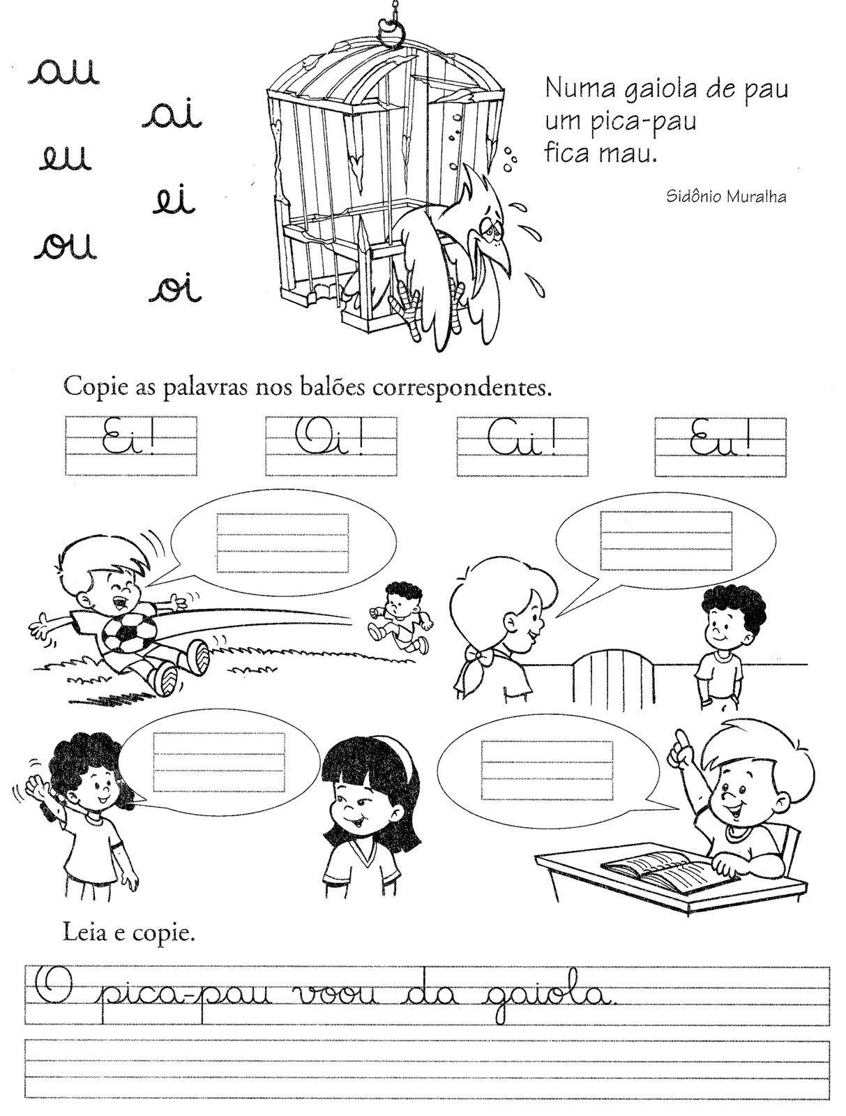 Atividades Aprender Escrever Com Letra Cursiva Alfabetizacao