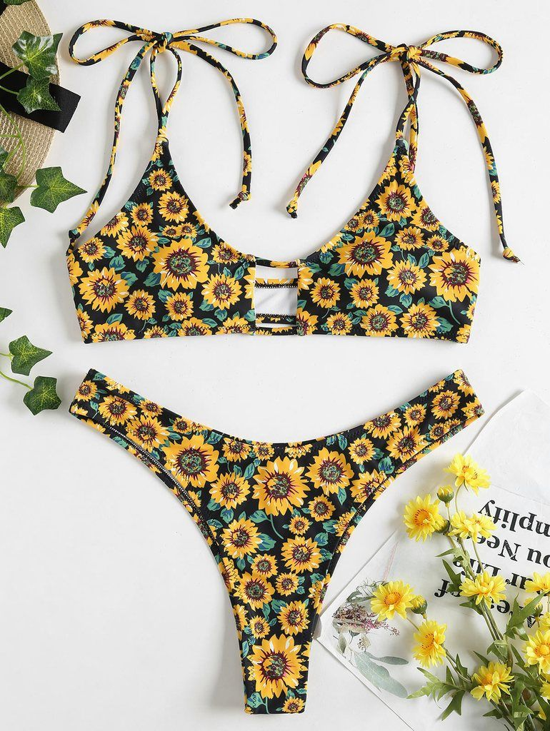 77ab65206a9 Sunflower High Cut Bikini Set - Black in 2019 | Sunflower Bikinis ...