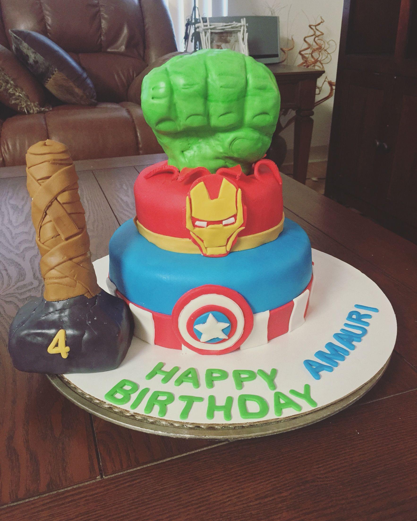 Oahu Baker Sweetbellascakesanddecor Avengerstheme Birthdaycake