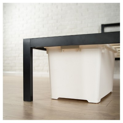 ff5c6f8e492e5 Modern Studio Metal Platform Bed 1500 with Headboard - Twin - Black - Zinus