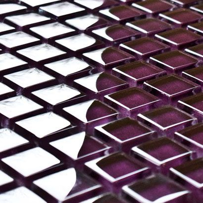 Damson Purple Glass Mosaic Tiles Purple Mosaics Mosaic Village Mosaic Wall Tiles Mosaic Tiles Uk Mosaic Tiles
