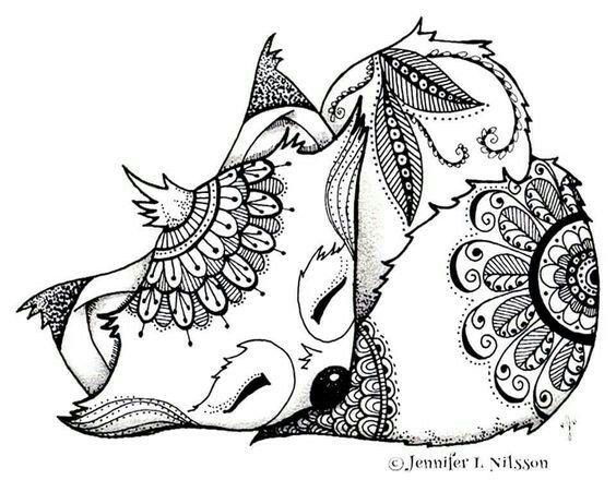 Pin de Lokfrid en лисы | Pinterest | Mandalas, Colorear y Pinturas