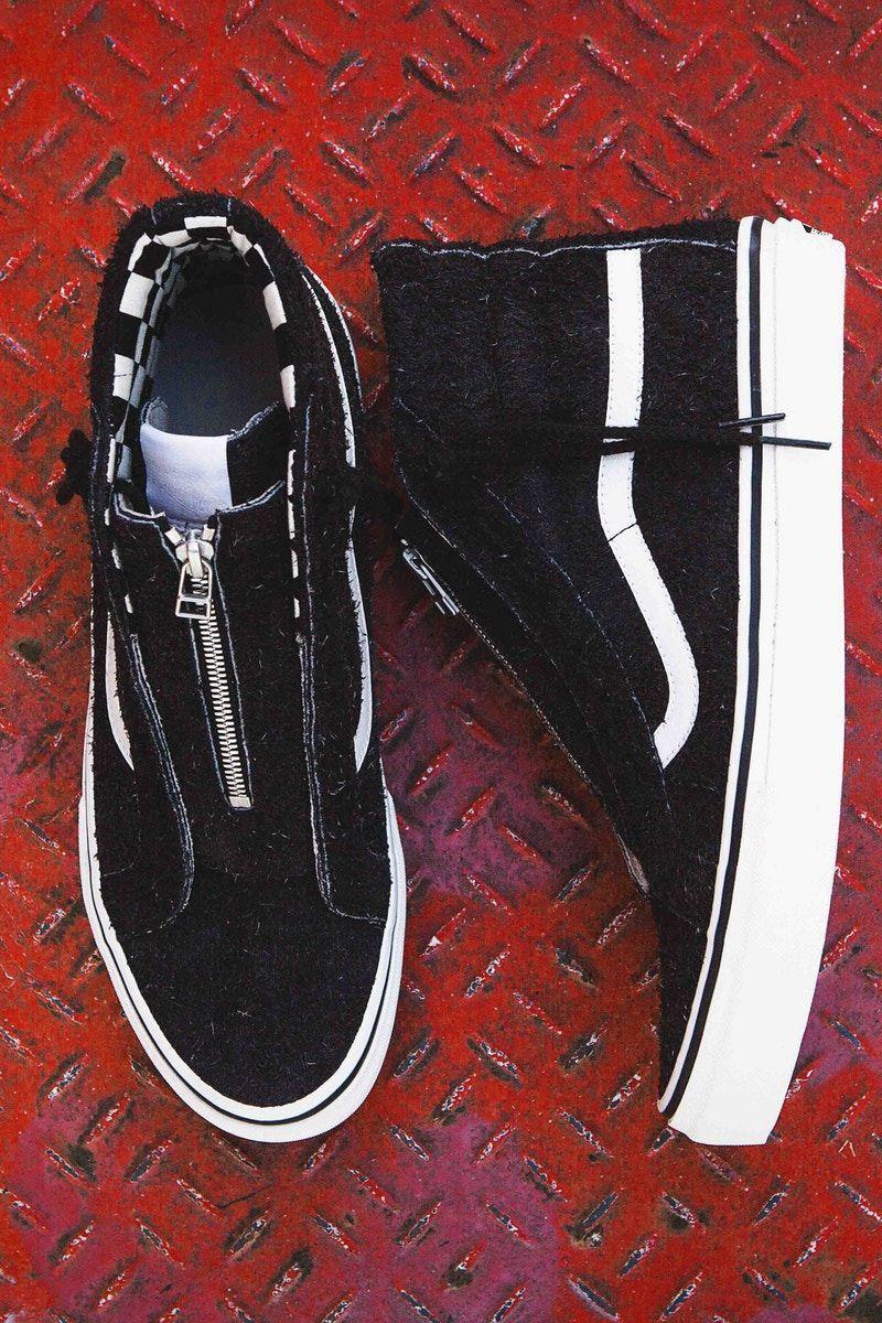 nonnative x Vans Sk8-Hi 2017 Fall Winter Sneaker Collaboration zipper  checkerboard japan suede 74f091e59