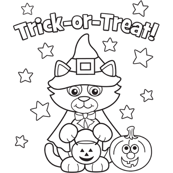 Kitty in Costume free coloring page Holidays Halloween