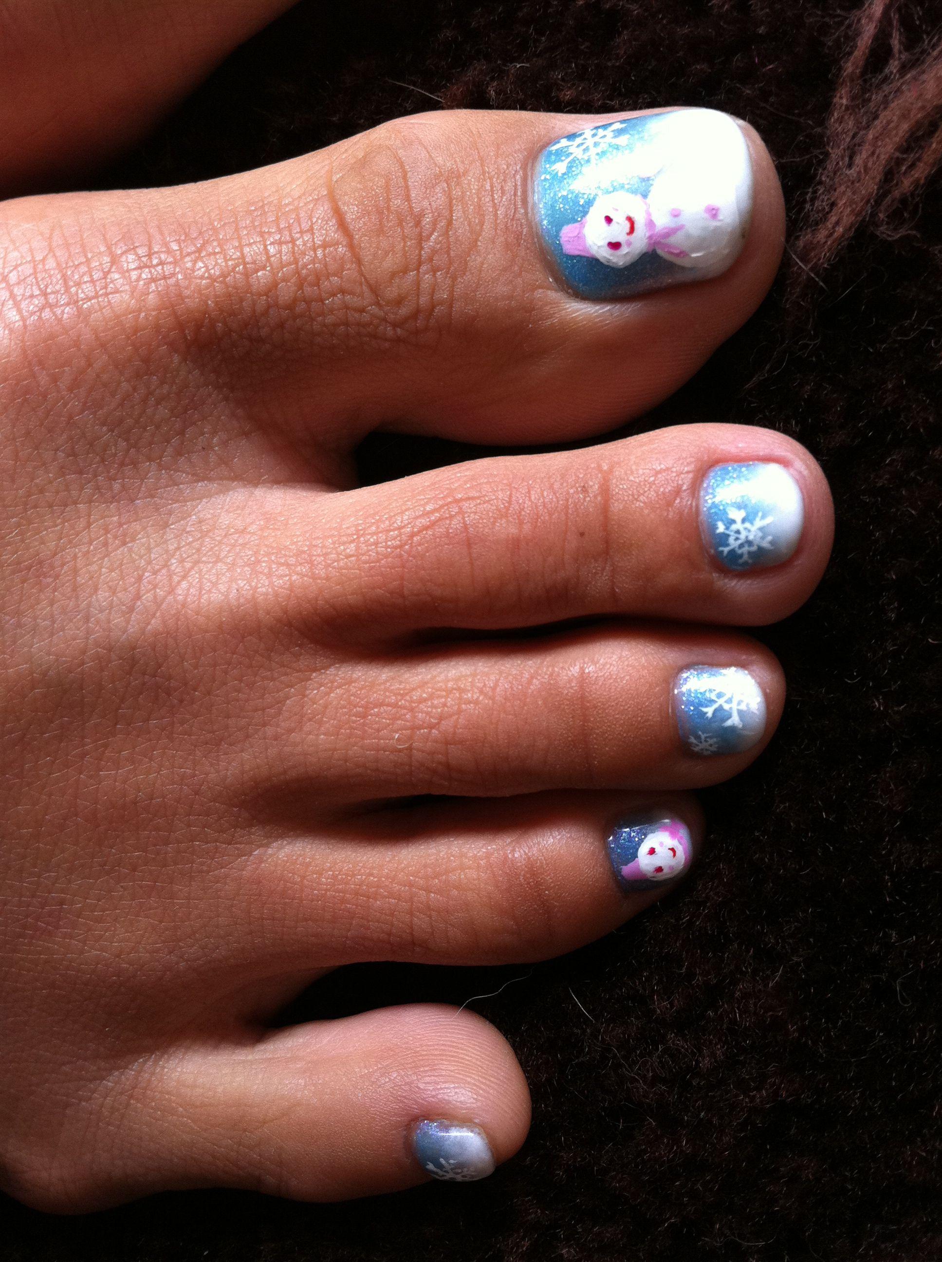 christmas toe nails nail art