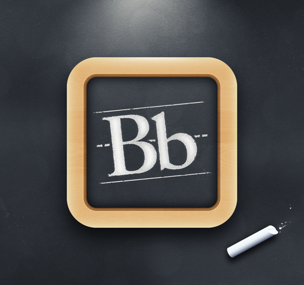 BlackBoard App Icon by Julian Burford, via Behance App