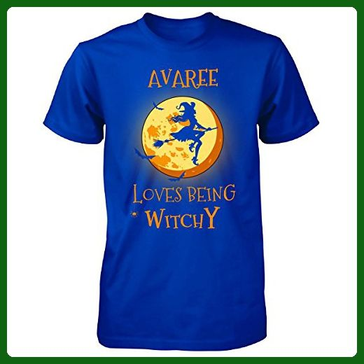 Avaree Loves Being Witchy. Halloween Gift - Unisex Tshirt Royal 2XL - Holiday and seasonal shirts (*Amazon Partner-Link)