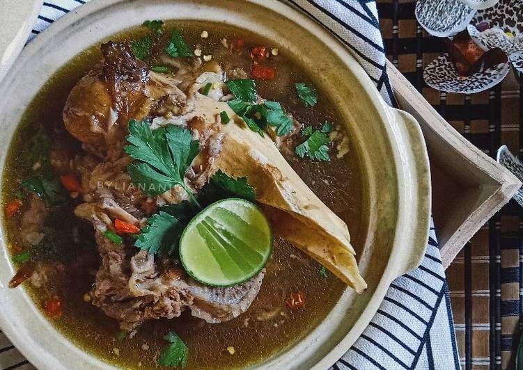 Bahan Sup Tulang Dan Tapak Kaki Lembu Yang Lezat Aneka Resepi Enak Resep Resep Sup Biji Labu Makanan