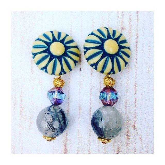 New season New earrings!  プチプララインの最新作☆  『大ぶり揺れイヤリング』  6種類が登場✨    #BAZAAR#Earring#Vintage#gemstone#Spring#Springjewelry#fashiongram#fashionstyle#pretty#SpringEarring#lovely#jewelryideas#バザール#イヤリング#春#アクセサリー#プチプライス#天然石#春コーデ##Happy #life