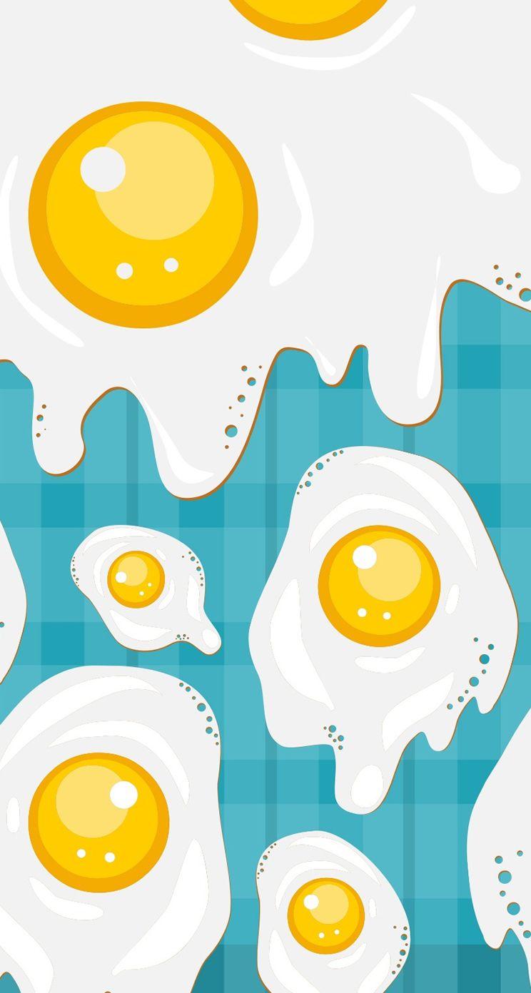 Fried Eggs Iphone 5s Parallax Wallpaper Ilikewallpaper Com