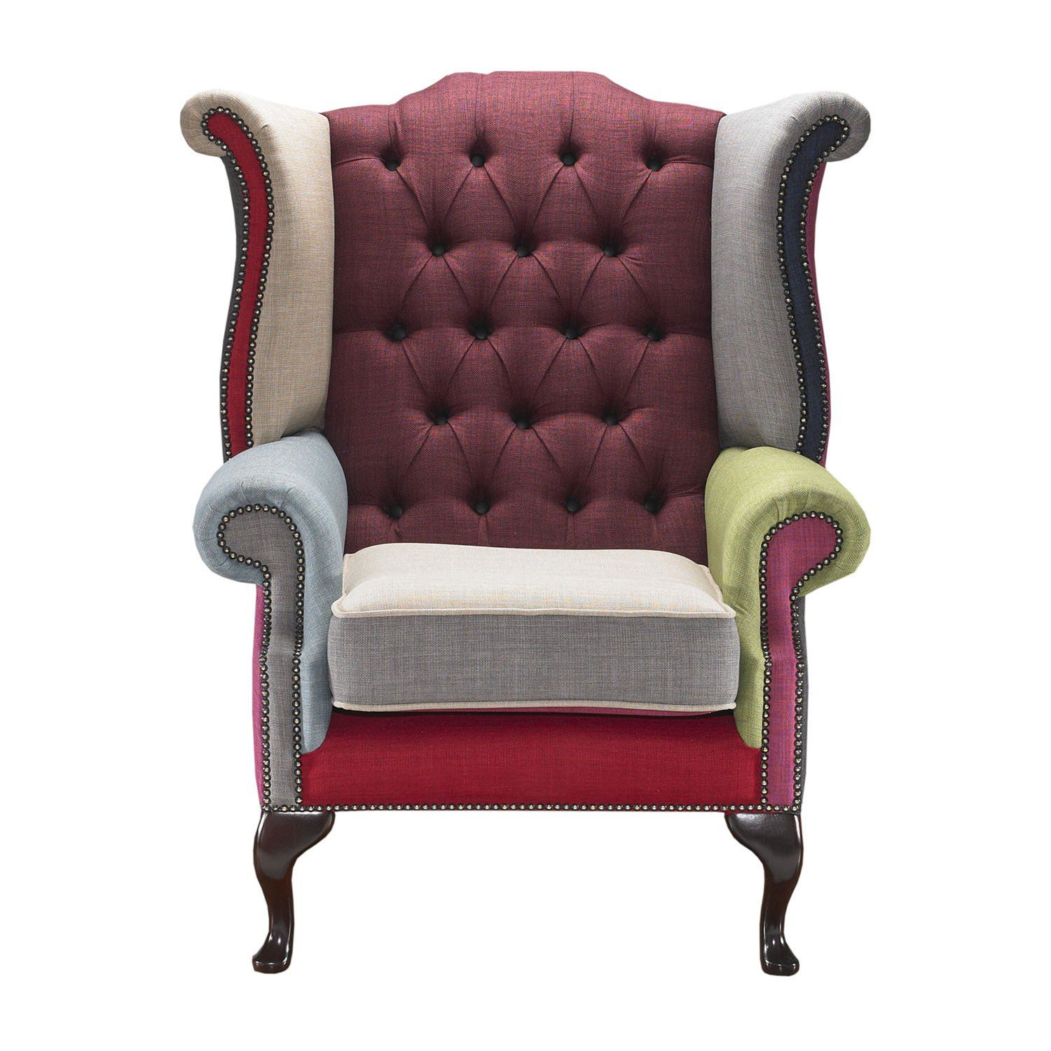Yoshida Chesterfield Fabric Queen Anne Armchair Only 44999 On