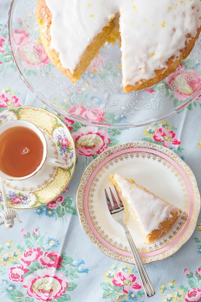 Afternoon tea party with Lemon Tea Cake ~ so pretty and a delicious recipe