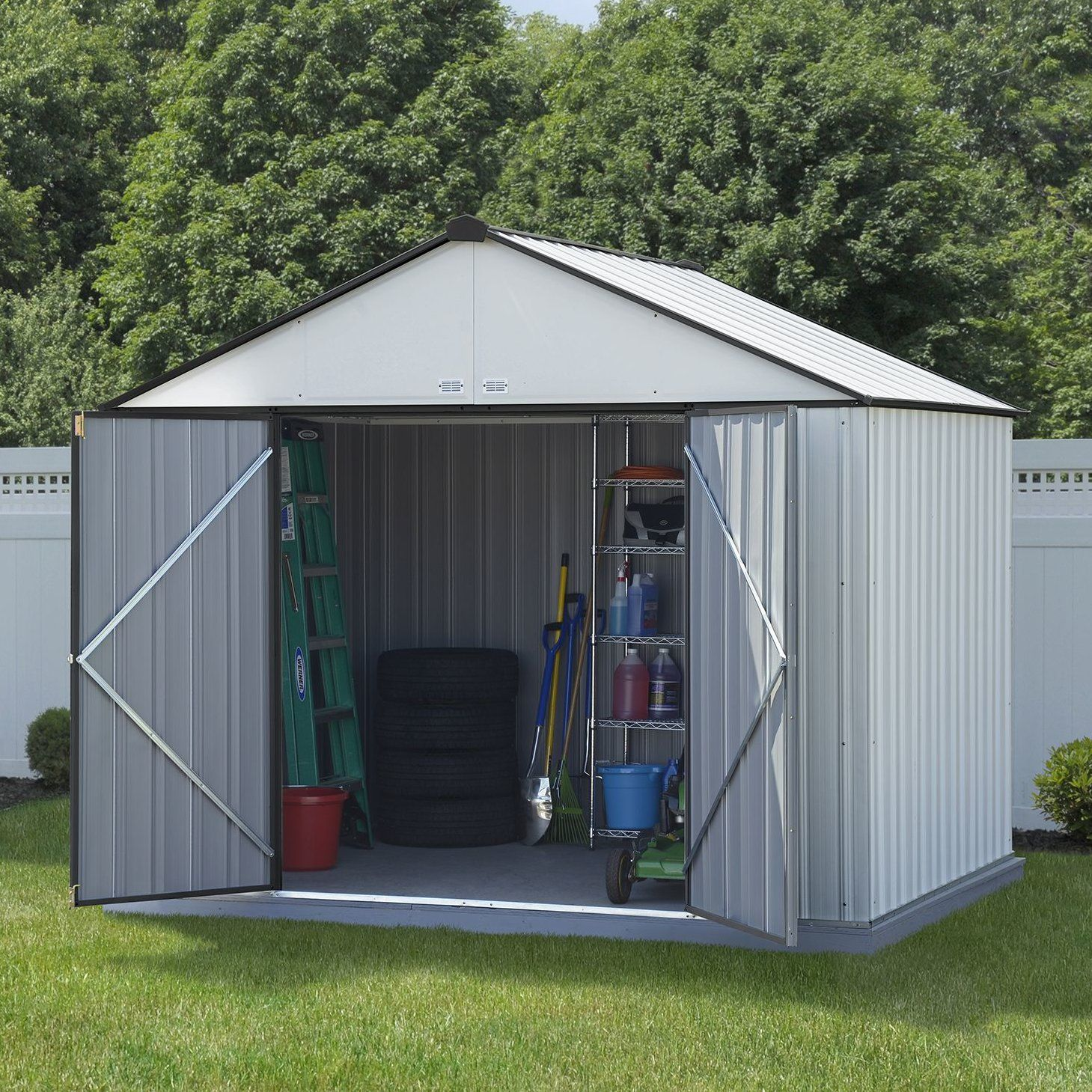Ezee Shed 10 Ft W X 8 Ft D Metal Storage Shed Wood Shed Plans Building A Shed Metal Storage Sheds