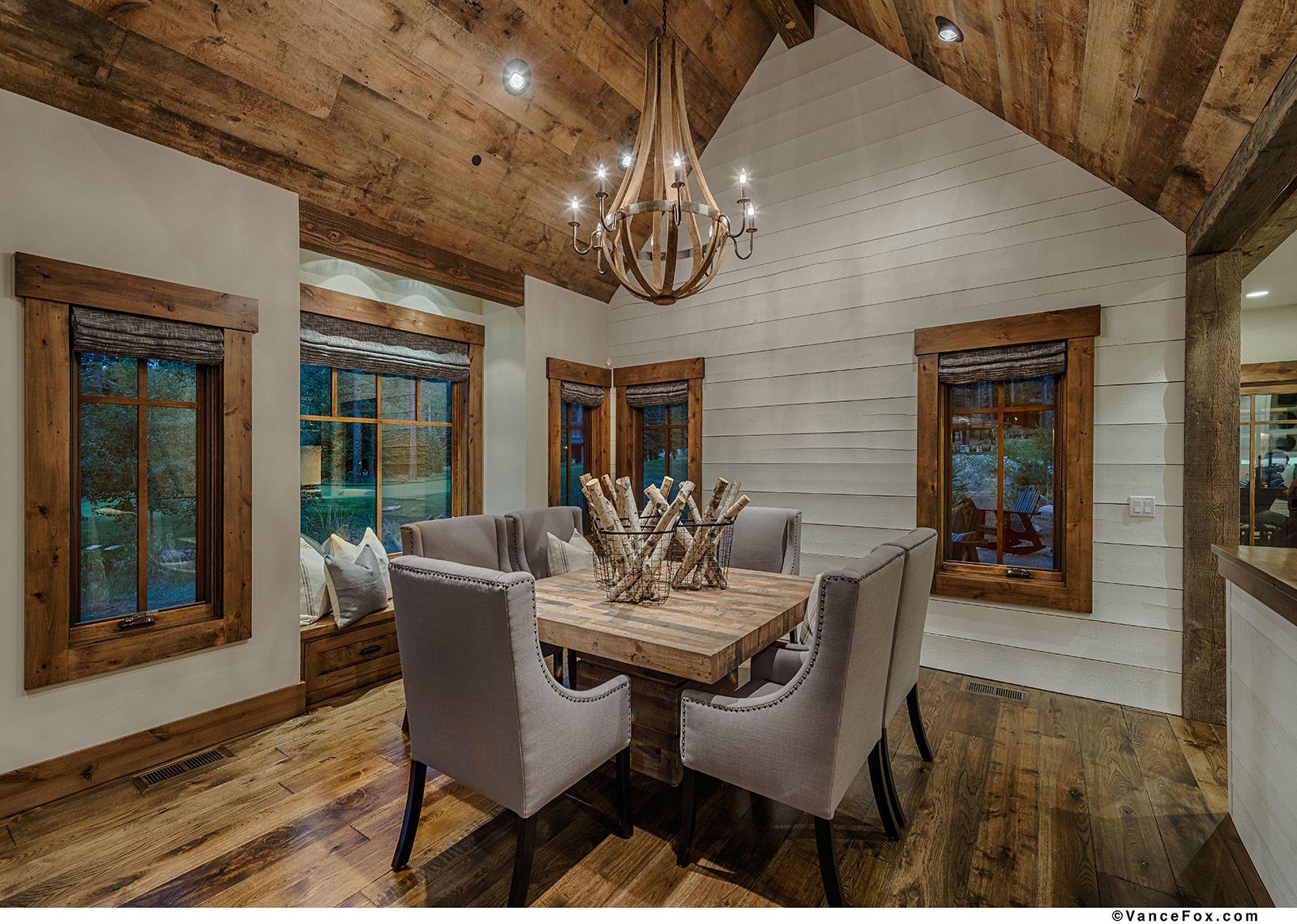 Lake Tahoe Dining Room Set Beauteous Diningroom #shiplap #woodenchandelier Heslin Construction Custom Design Ideas