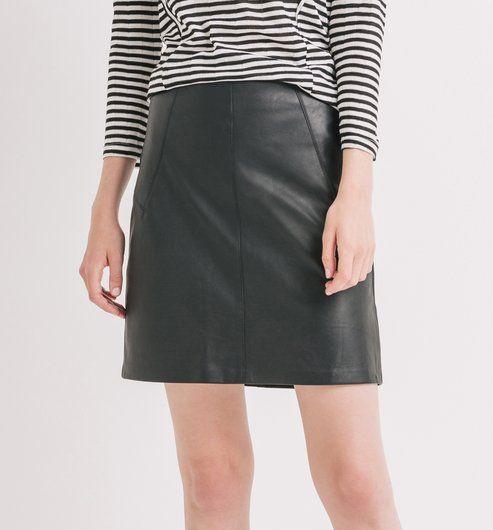 67b4c83bd20 Jupe droite Femme noir - Promod