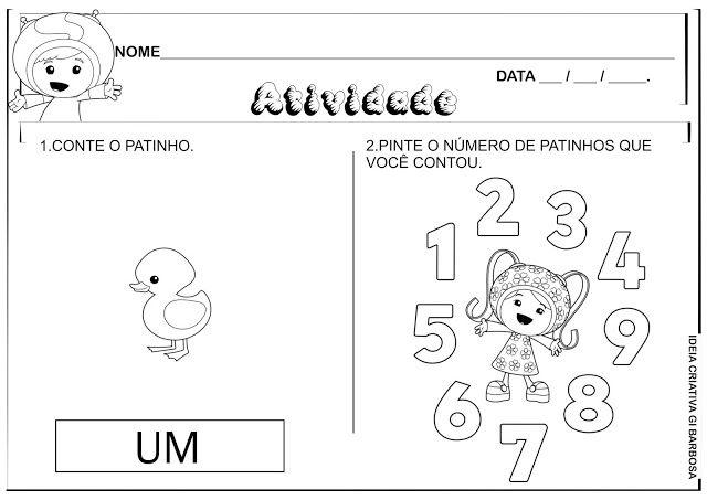 Atividades Matematica Numeros 1 2 3 4 E 5 Umizoomi Com Imagens