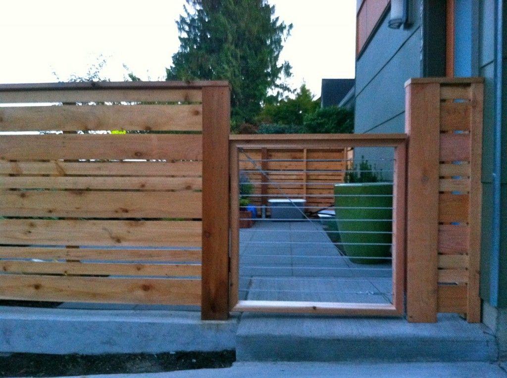 horizontal wood fence and gate walls fences gates. Black Bedroom Furniture Sets. Home Design Ideas