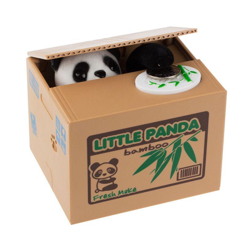 Cat Panda Automated Stealing Coin Money Box Piggy Bank Storage Saving Box Gift