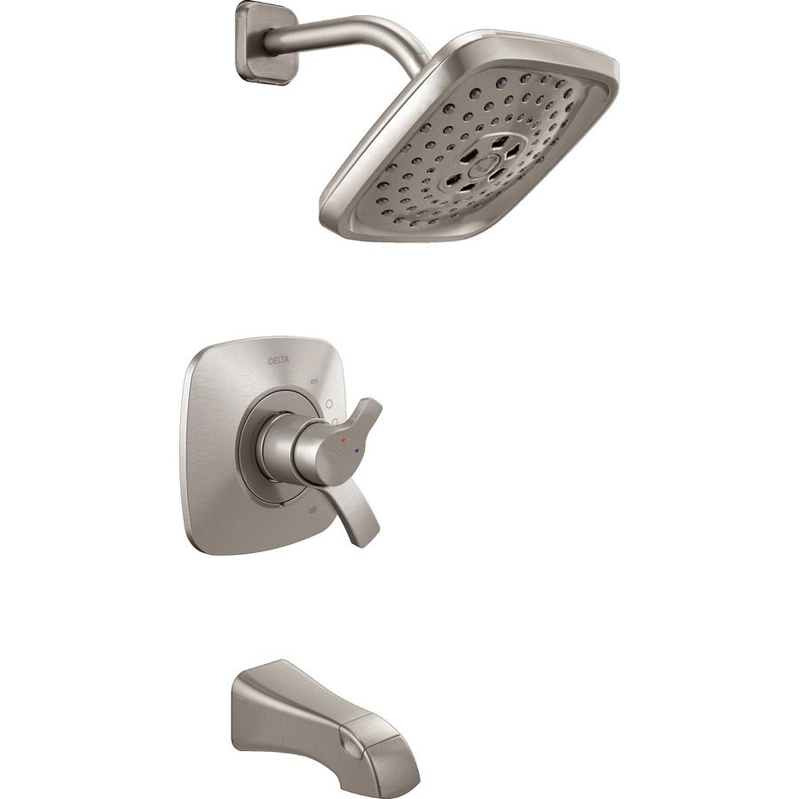 Delta Tesla Stainless 2 Handle Bathtub And Shower Faucet At Lowes
