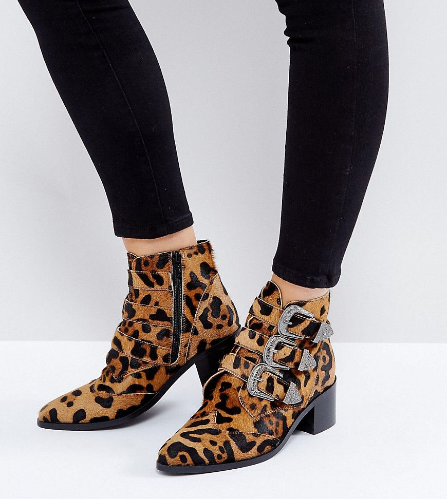 334058583286b ASOS RELIEVE Suede Buckle Ankle Boots - leopard | shoes/footwear ...