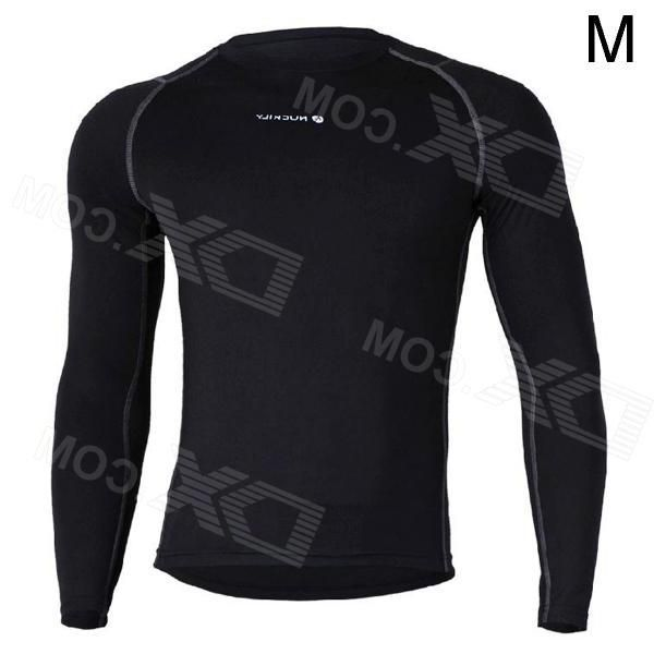 Nuckily MH003 Outdoor Sport Cycling Mens Long-Sleeve Jersey Clothing - Black (Size M)