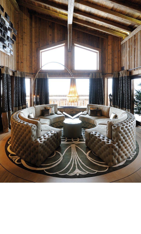 Sofa Set Living Room Design: Modern Round Sofa. Modern Sofa. Living Room Design Ideas
