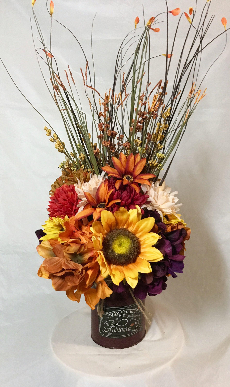 Fall Floral Sunflowers Purple Gold Hydrangea Cream Wine Orange Green Mums Gold Rust Hea Fall Floral Fall Flower Arrangements Fall Floral Arrangements