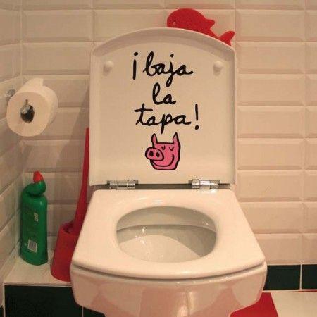 Vinilo tapa del wc dibujos infaniles pinterest tapas bromas y ba o - Vinilo para el bano ...