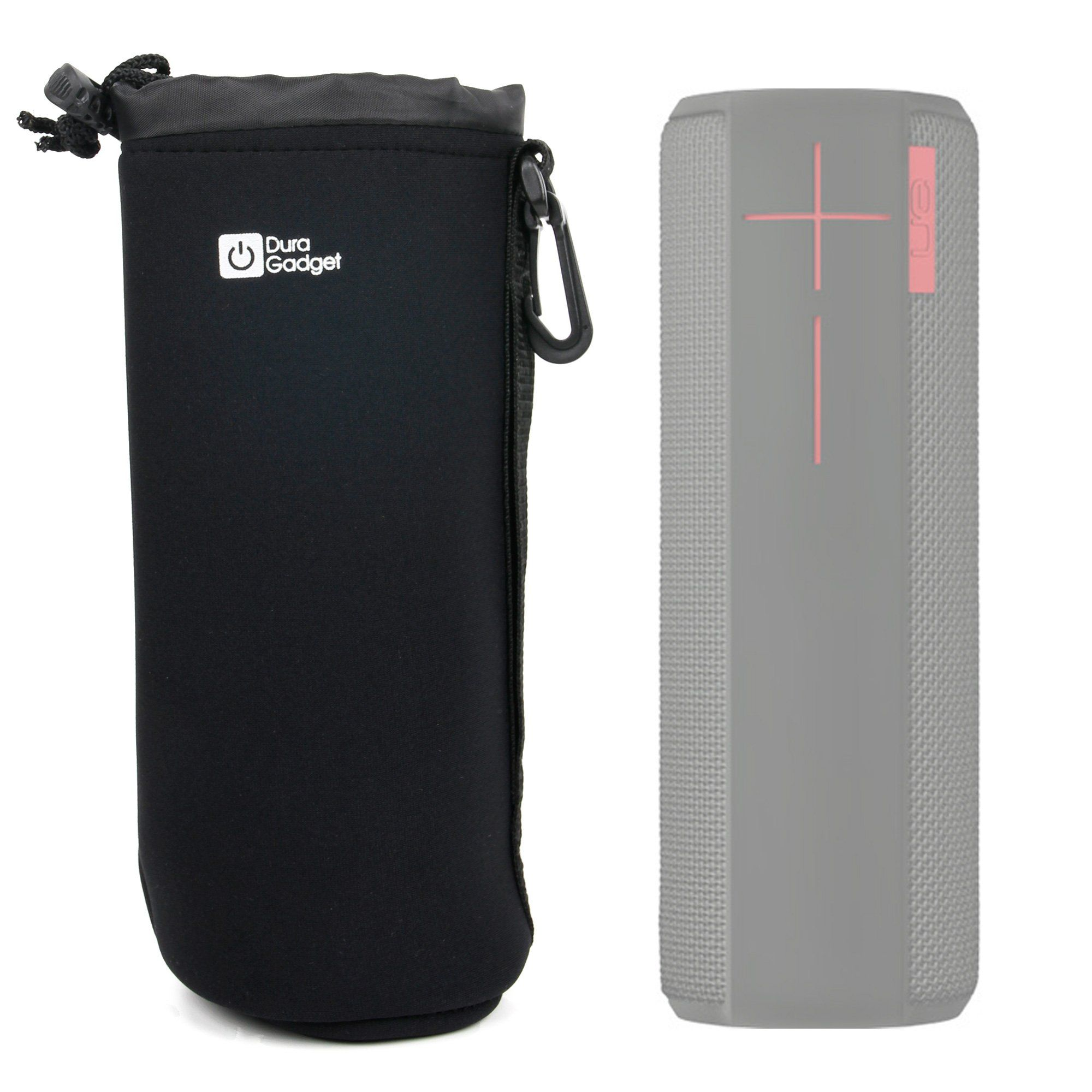 Deluxe Padded Black Water Resistant Carry Pouch For Logitech Ue Ultimate Ears Boom 2 Ultimate Ears Boom 2 Panther Holiday E Logitech Water Resistant Megaboom