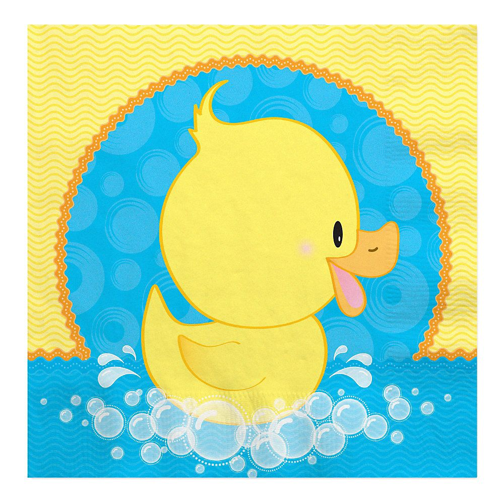 Baby Shower Themes Ducks ~ Pato ducky baby shower servilletas de almuerzo ct bigdotofhappiness babies