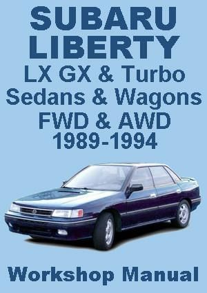 Subaru Liberty Sedans Wagons 1989 1994 Workshop Manual Subaru Sedan Workshop