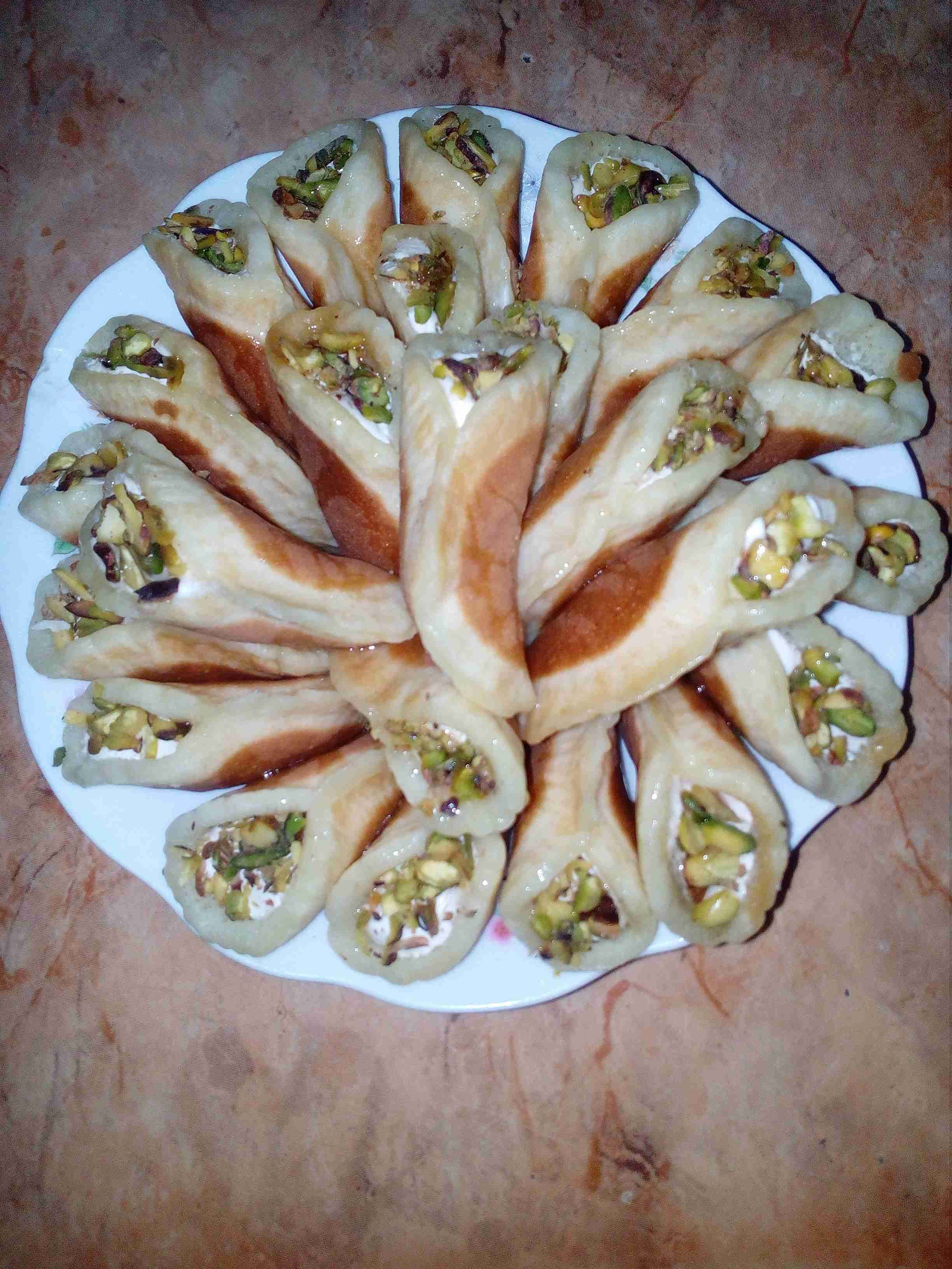 قطايف بالقشطة ملكة الحلويات الشعبية زاكي Food Yummy Chicken