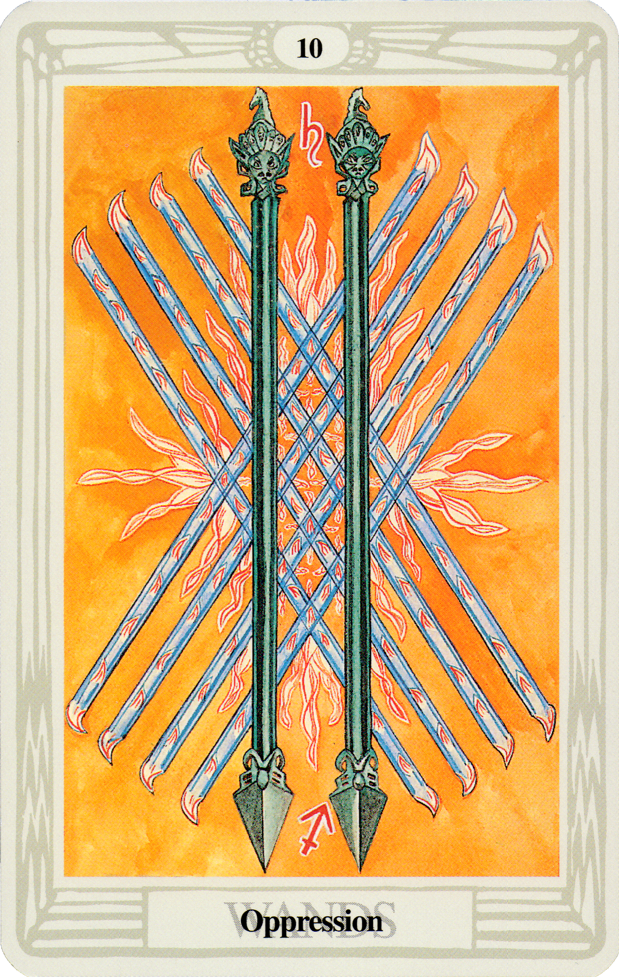 Belle Constantinne - Nine of Wands - The Thoth Deck by Aleister Crowley