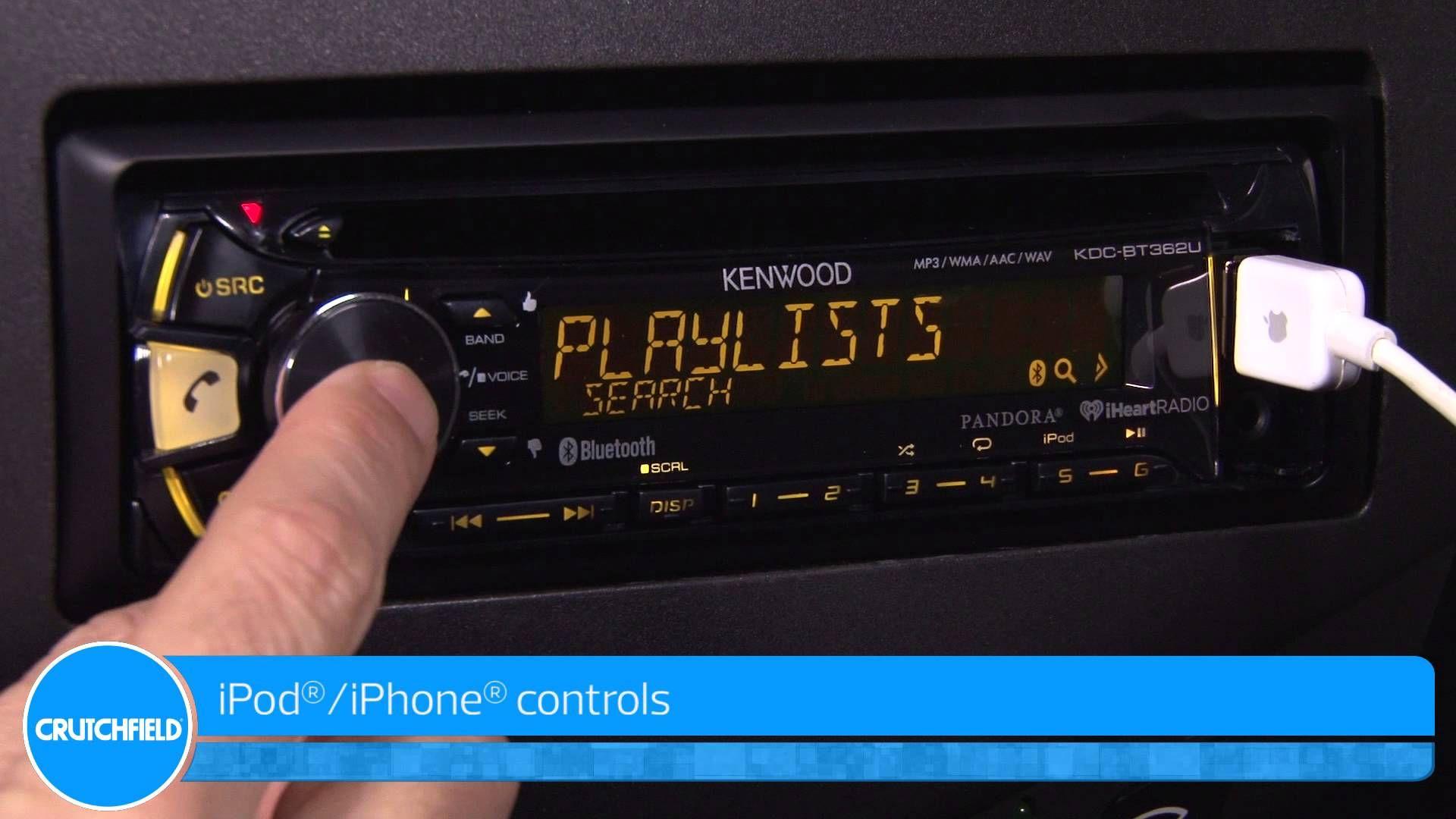 Kenwood KDC-BT362U Display and Controls Demo | Crutchfield