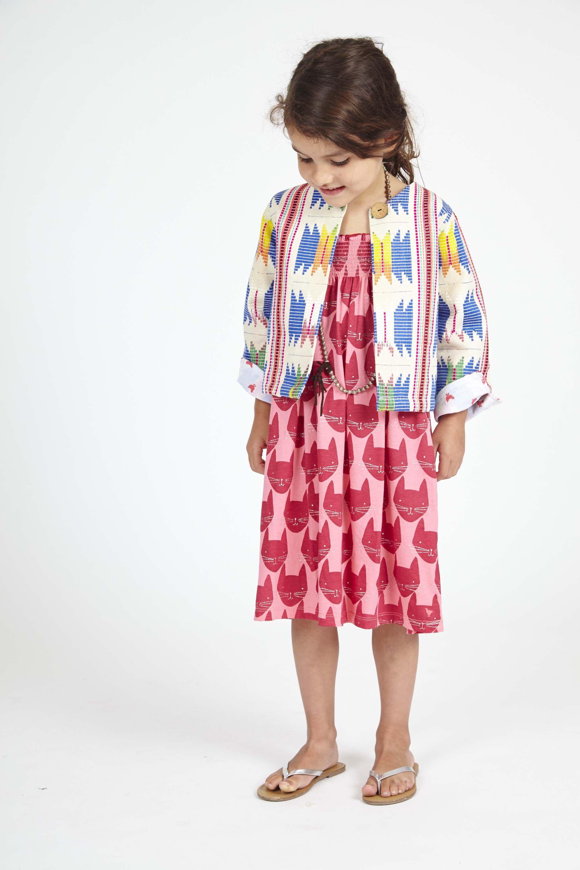 maine dress pink lemonade multi with ikat jacket   Little ones ...