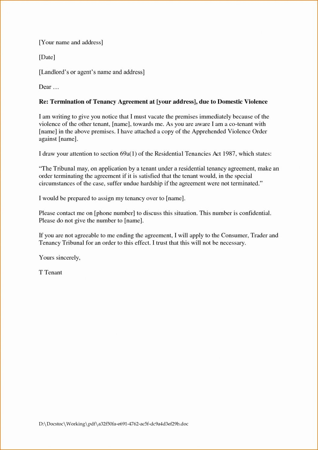 rental contract cancellation letter template in 2020 corporate lawyer resume sample hr assistant summary for basic accounting