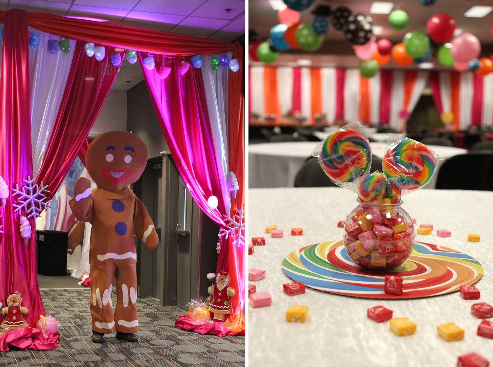 Board game decorations centerpieces the board game clue for Candyland bedroom ideas