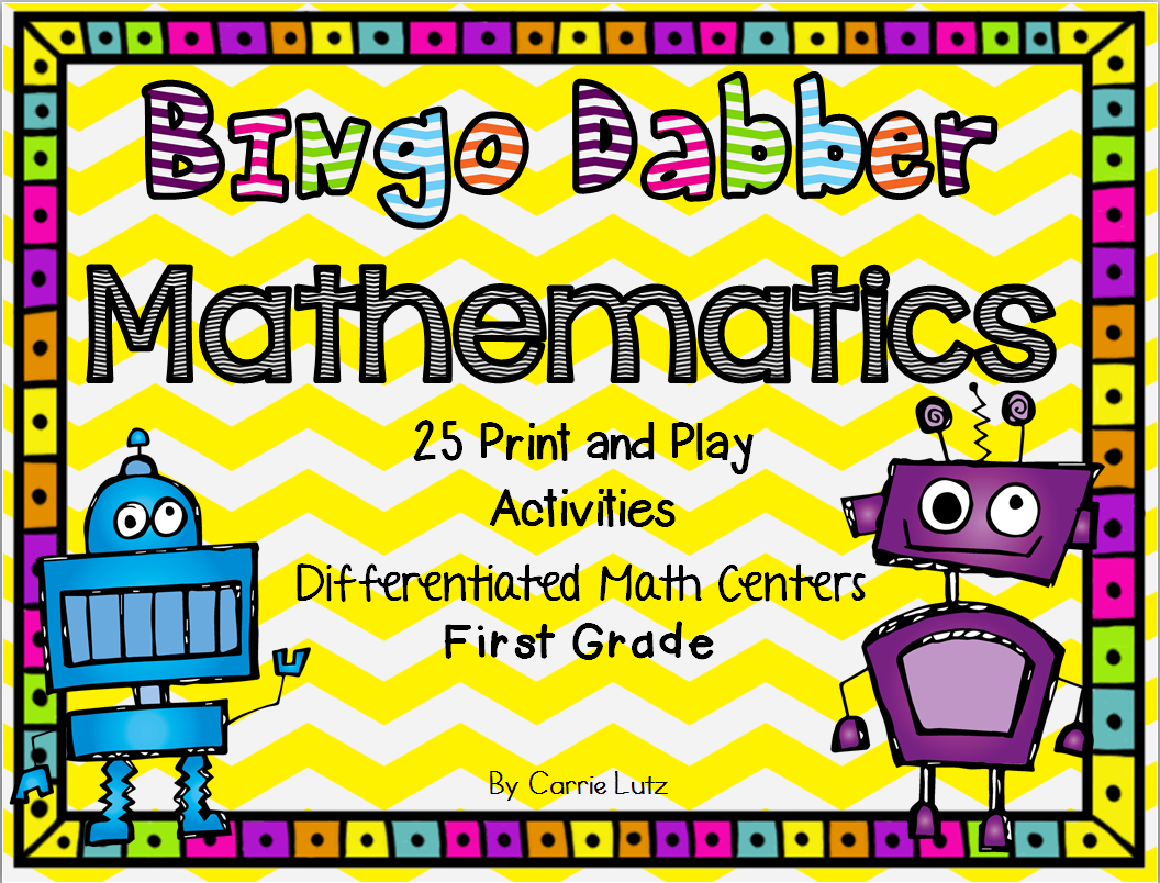 Bingo Dabber Math Centers Worksheets