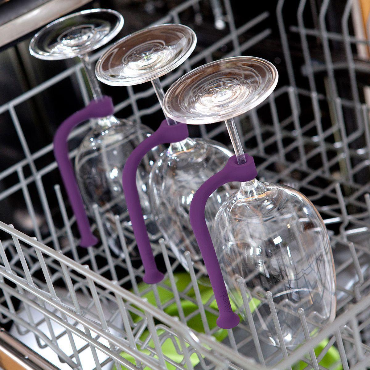 Silicone Wine Glass Holder for Dishwasher Set #inspireuplift explore Pinterest