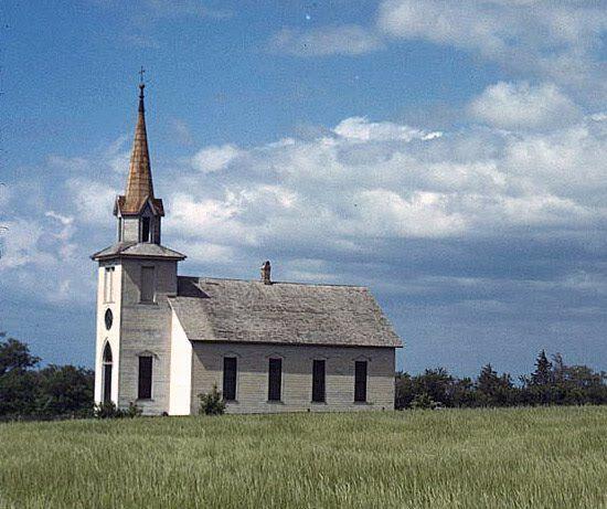 1941 Small Country Church Near Junction City, Kansas