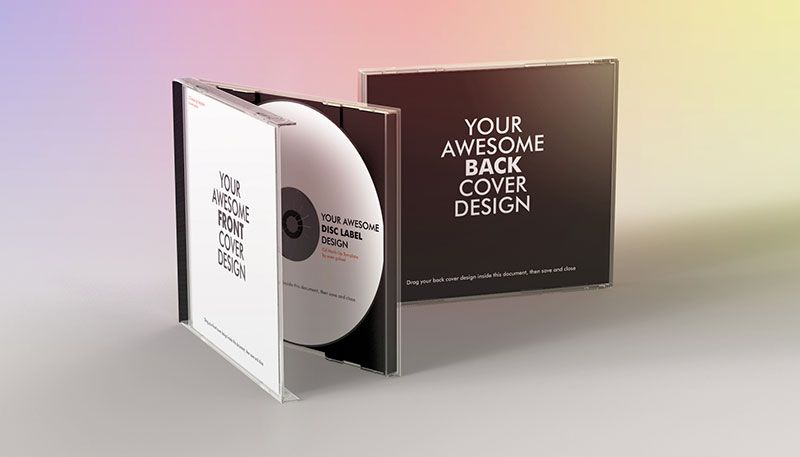 Realistic CD Case Mock-Up | CD DVD Mockups | Pinterest
