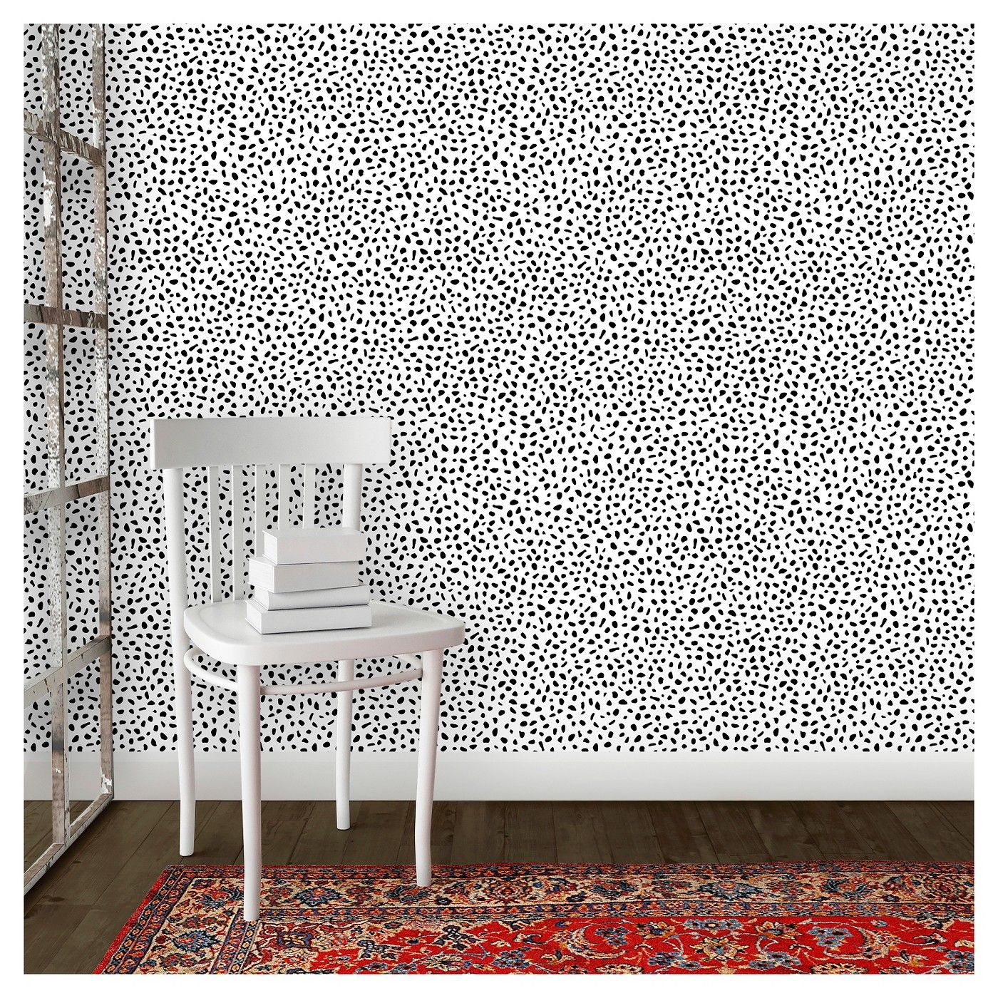 Devine Color Speckled Dot Peel & Stick Wallpaper Black