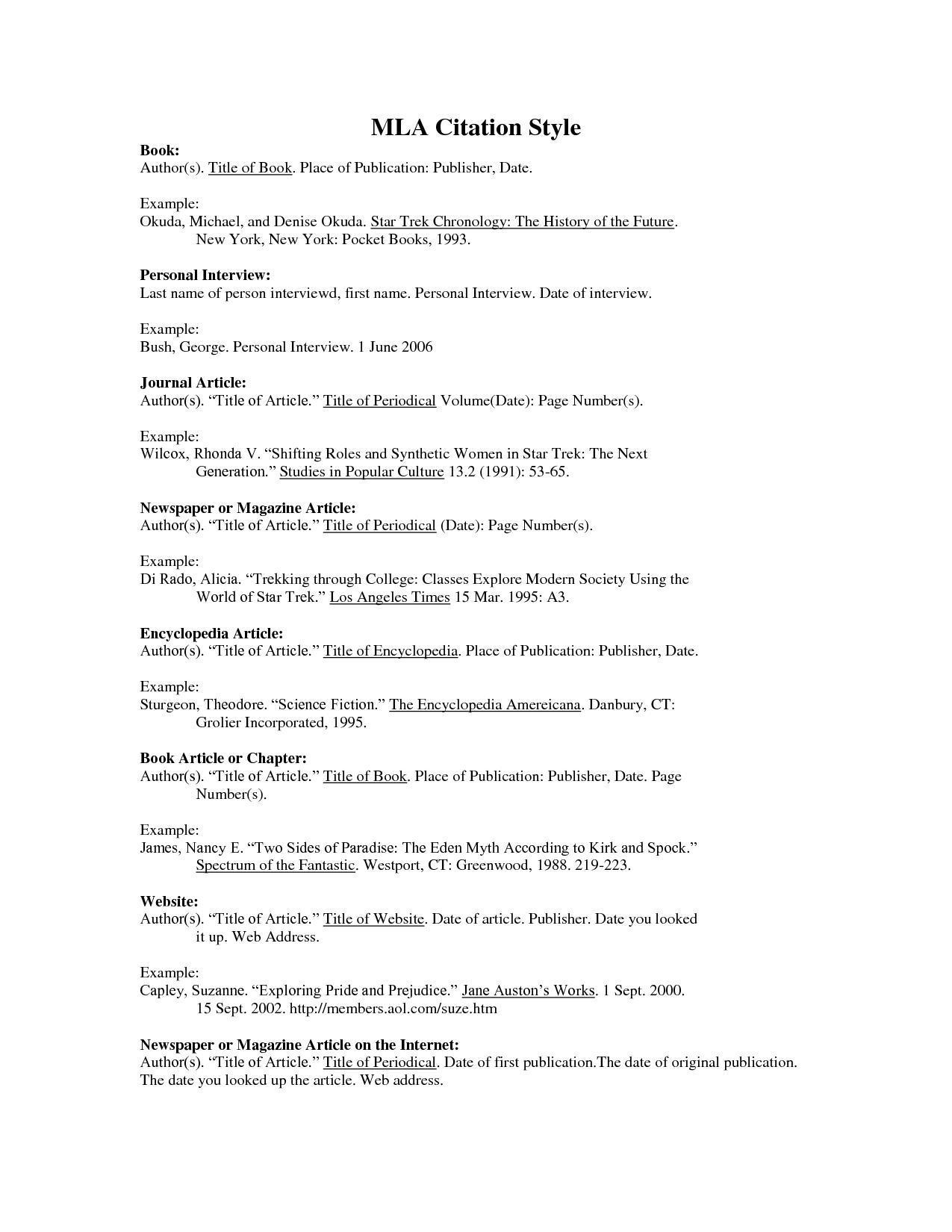Annotated Bibliography Mla The Mla Handbook Addresses Annotated