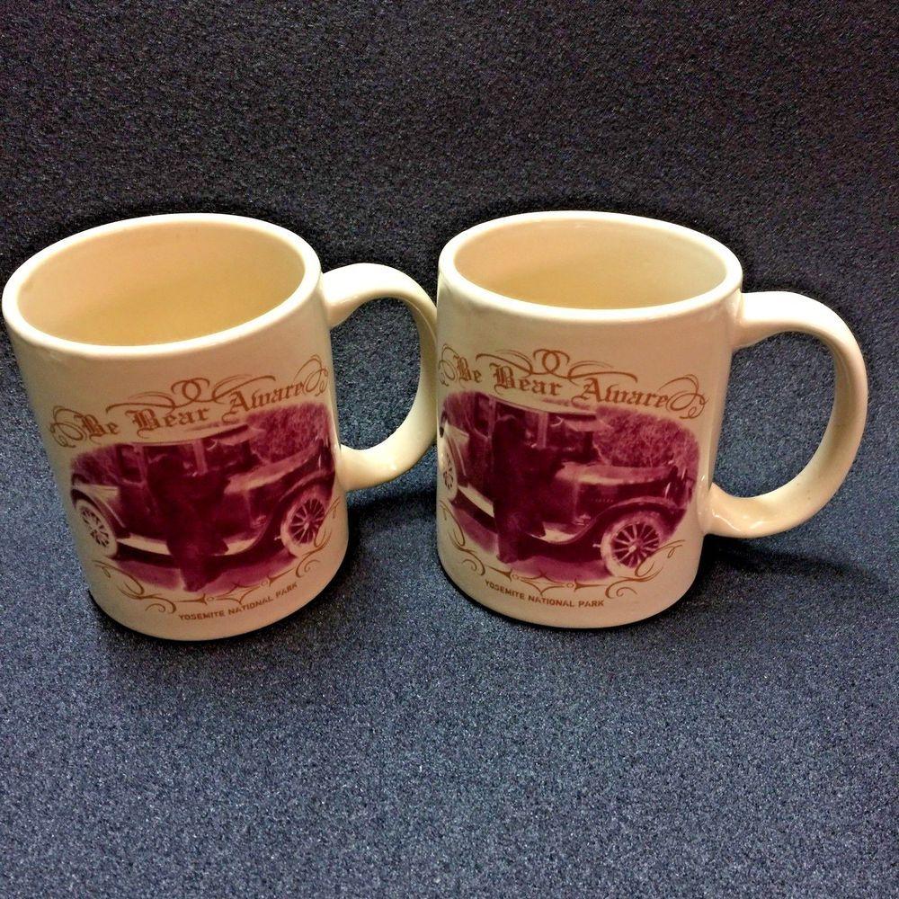 Yosemite National Park Be Bear Award Vintage Coffee Mug