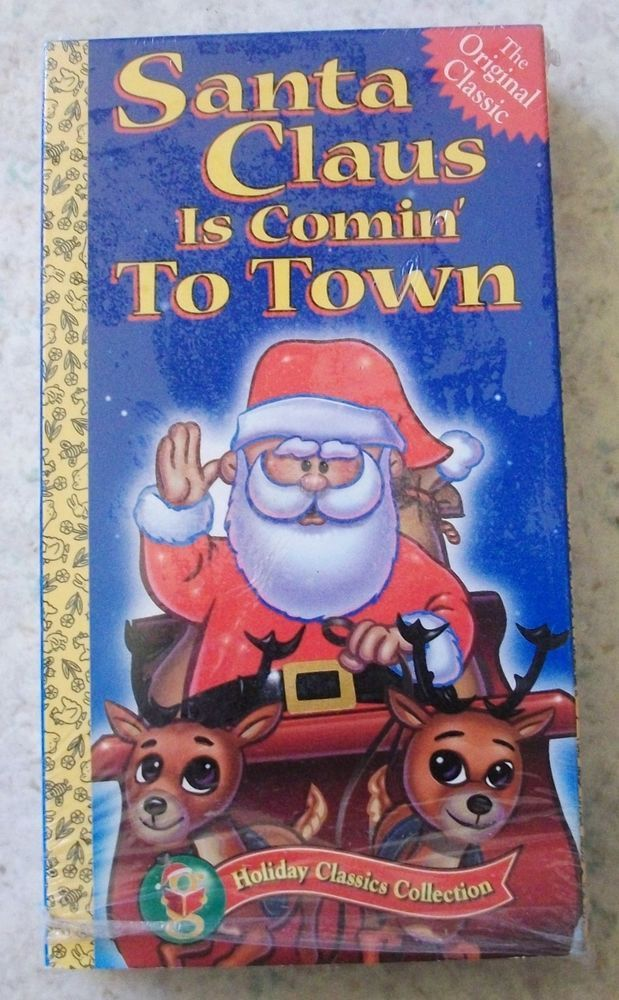 Santa Claus Is Coming to Town VHS | Santa claus is coming to town, Little golden books