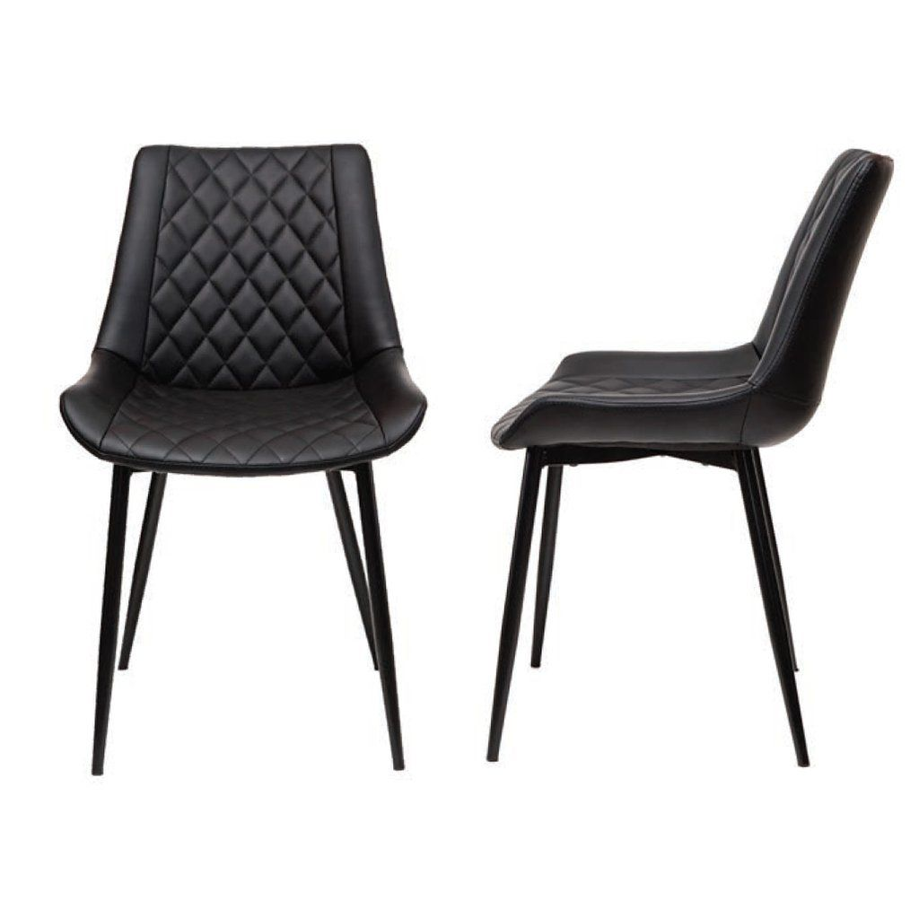 Kenna Modern Dining Chair With Black Legs Dining Chairs